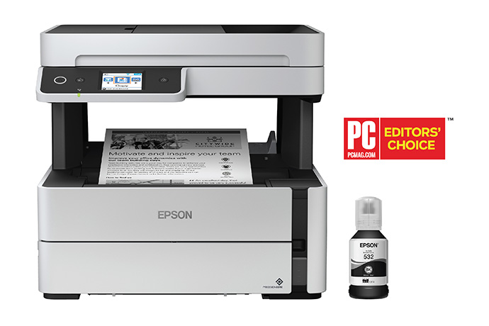 Epson EcoTank ET-M3170 Wireless Monochrome All-in-One Supertank Printer with ADF, Fax and Ethernet PLUS 2 Years of Unlimited Ink