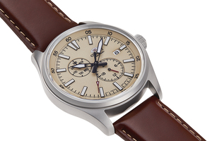 ORIENT: Mechanical Sports Watch, Leather Strap - 42.4mm (RA-AK0405Y)