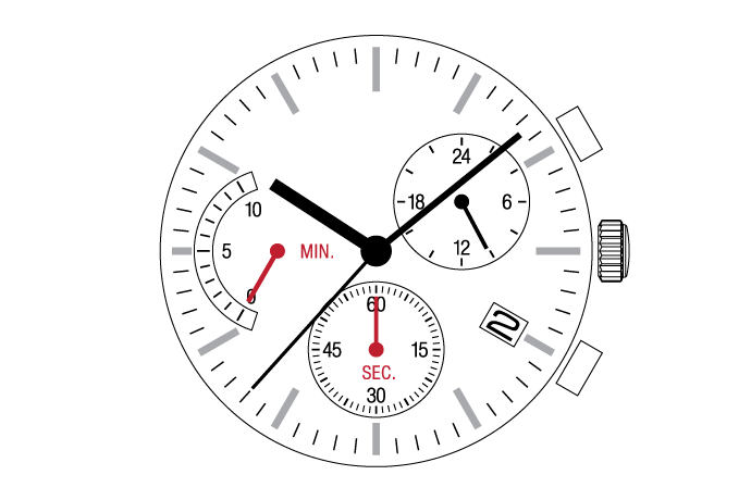 MUSCLE MOVEMENT  Chronograph  VR3J