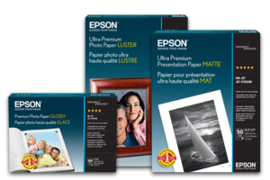 "Premium Glossy Inkjet Photo Paper 8.5/""x11/"" 50 Sheet for Epson"