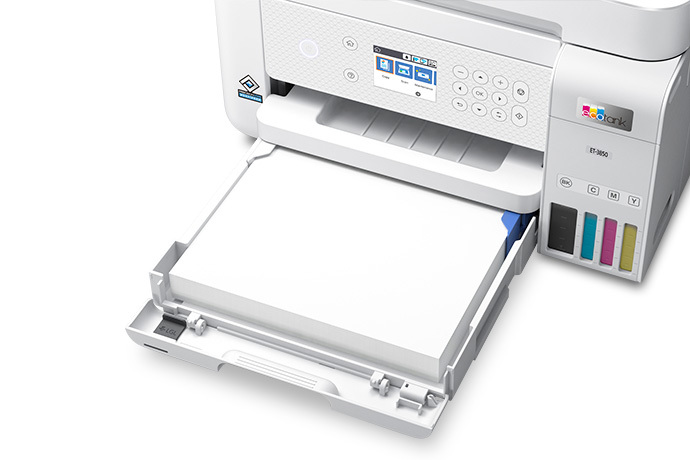 EcoTank ET-3850 Wireless Color All-in-One Cartridge-Free Supertank Printer with Scanner, Copier, ADF and Ethernet