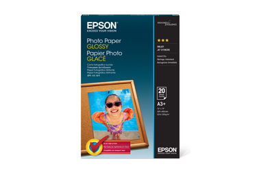 "Photo Paper Glossy, 13"" x 19"", 20 folhas"