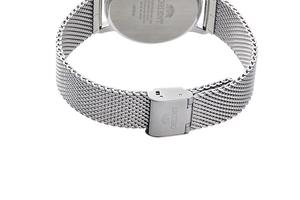 Orient: Cuarzo Contemporary Reloj, Cuero Correa - 40.0mm (GW05003W)