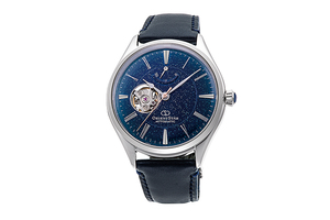 ORIENT STAR: Mechanical Classic Watch, Leather Strap - 40.4mm (RE-AT0205L) Limited