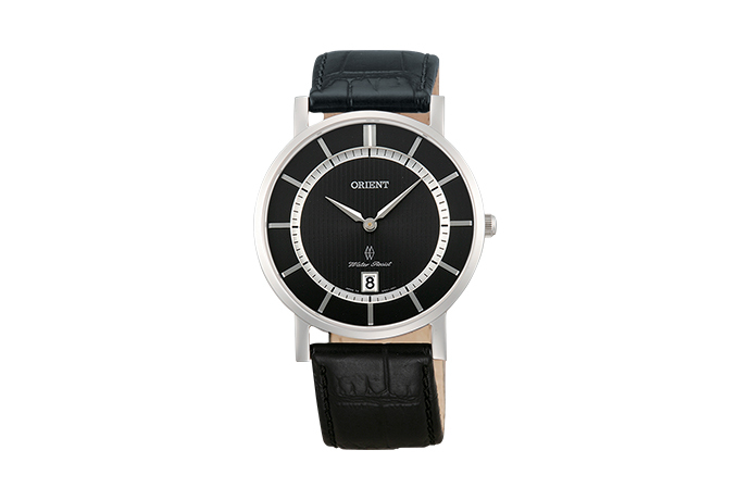 Orient: Cuarzo Contemporary Reloj, Cuero Correa - 38.0mm (GW01004A)